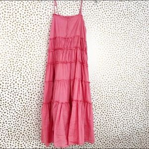 Pink Boho Casual dress with adjustable straps